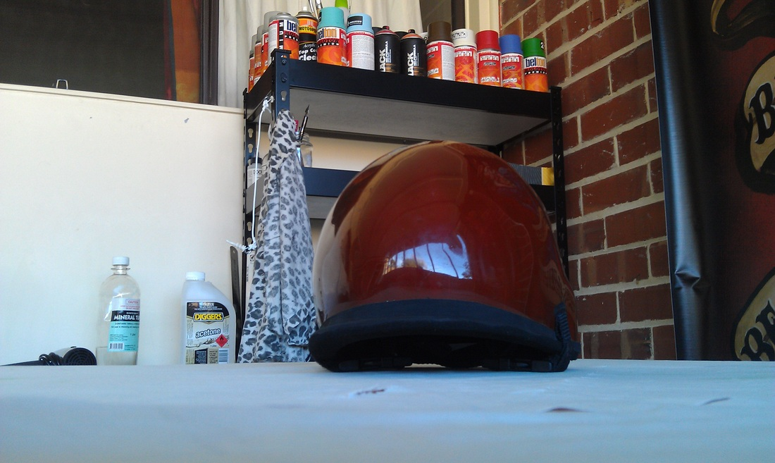 The surf helmet before I custom painted it