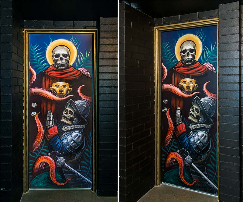Custom painted interior door commission