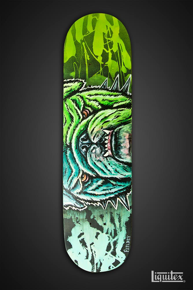 Bulldog skate art