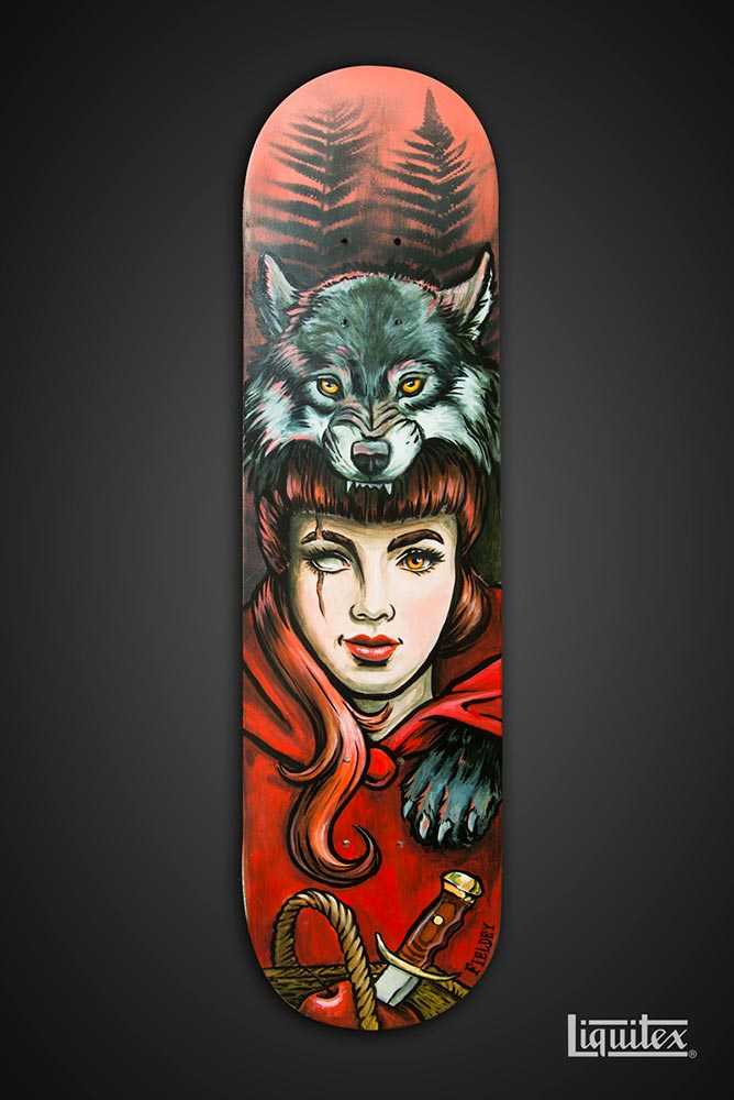 Little Red Riding Hood skateboard art