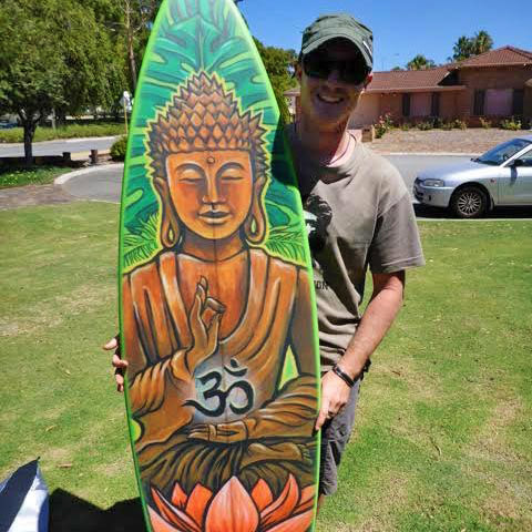 Custom buddha surfboard grahic