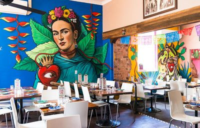 Interior street art murals for Santa Fe Restaurant, Perth