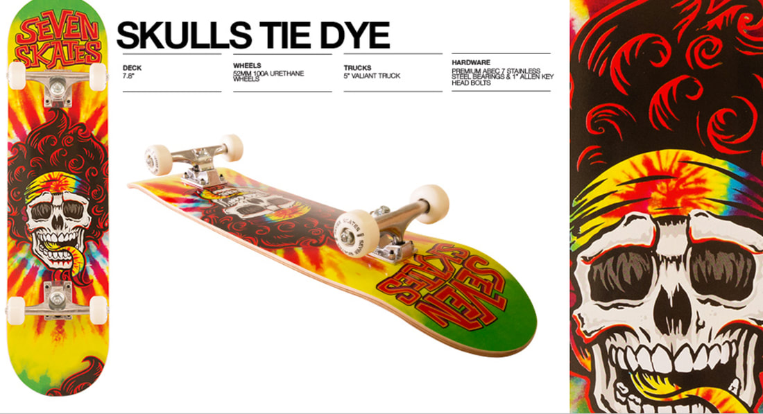Psychedelic skateboard deck graphic