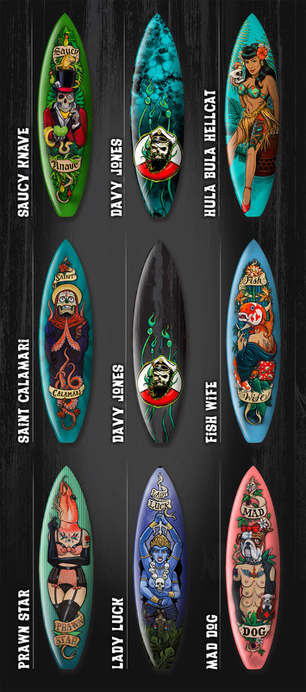 Surfboard artwork