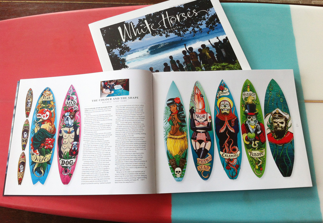 White Horses Surf Magazine interview with Fieldey