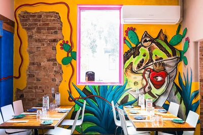 Diego Rivera as a toad street art mural for Santa Fe Restaurant, Perth